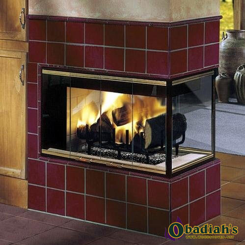 Majestic Designer See Thru Series Wood Fireplace At Obadiah S